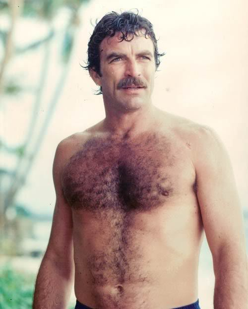 tom selleck hairy chest magnum pi 80s